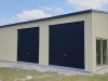 Garage with Open End Carport